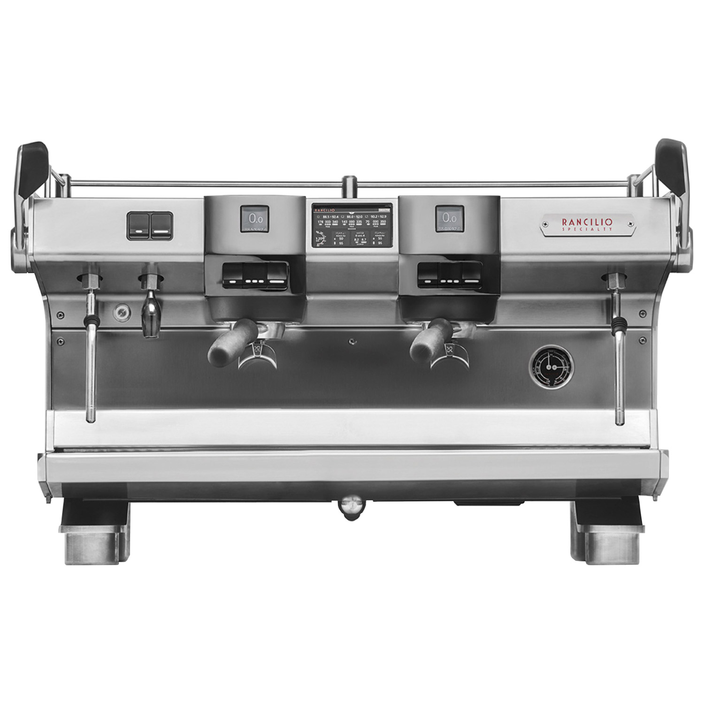 Espressokeitin Metos RS1 2GR. Automaattinen esupresokeitin, jossa 2 suodatinyksikköä, 2 höyryhanaa ja kuumavesihana. Vuoraus ruostumatonta terästä