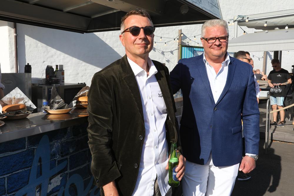 Topbox toimitusjohtaja MArtti Lukander ja kaupallinen johtaja Heikki Hilpelä
