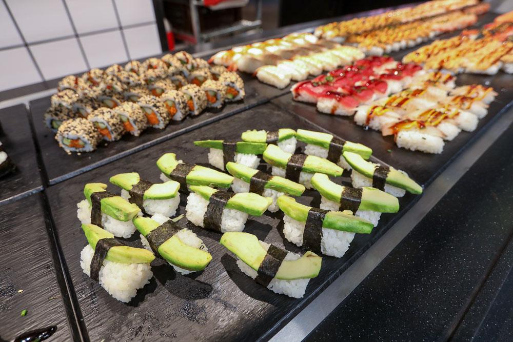 Itsudemon sushivalikoima on laaja.