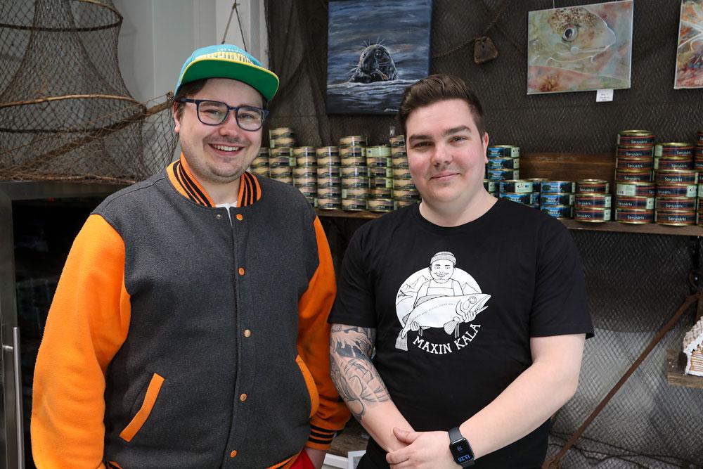 Max Grönholm ja Miki Kurkela perustivat Kauppamäen Karamellin Espooseen.
