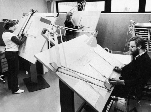 Metos keittiösuunnittelua vuodelta 1979.